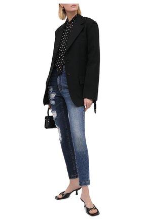 Женские джинсы DOLCE & GABBANA синего цвета, арт. FTBXHD/G8CU4 | Фото 2
