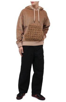 Мужской худи DOLCE & GABBANA бежевого цвета, арт. G9TW0T/FUVFH | Фото 2 (Длина (для топов): Стандартные; Материал подклада: Хлопок; Материал внешний: Хлопок; Рукава: Длинные; Мужское Кросс-КТ: Худи-одежда; Принт: Без принта)