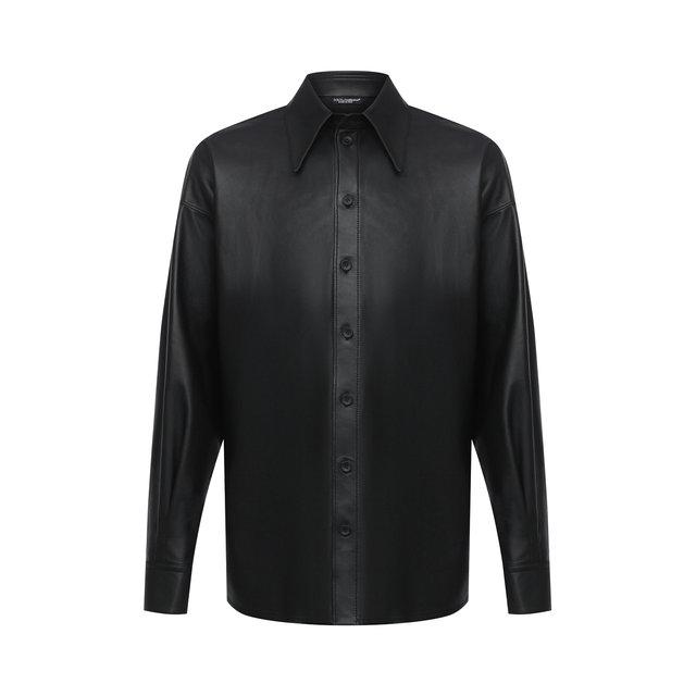 Кожаная рубашка Dolce & Gabbana