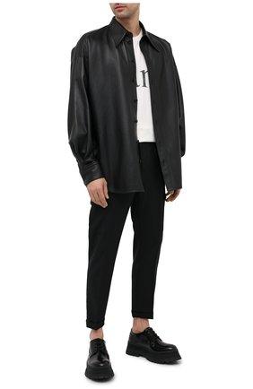Мужская кожаная рубашка DOLCE & GABBANA черного цвета, арт. G5ID3L/HULD8 | Фото 2