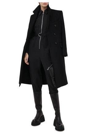 Женский комбинезон TIBI черного цвета, арт. P220TW2137 | Фото 2 (Материал внешний: Синтетический материал, Шерсть; Рукава: Длинные; Случай: Повседневный; Длина (брюки, джинсы): Укороченные; Женское Кросс-КТ: Комбинезон-одежда)