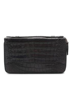 Мужской портмоне из кожи аллигатора BRIONI серого цвета, арт. 0HSS0L/09718/AMIS | Фото 1