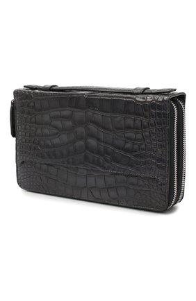 Мужской портмоне из кожи аллигатора BRIONI серого цвета, арт. 0HSS0L/09718/AMIS | Фото 2