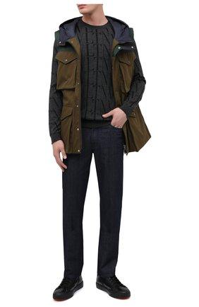 Мужские кожаные кеды SANTONI черного цвета, арт. MBC021358NEARDDDN01 | Фото 2