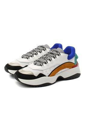 Мужские комбинированные кроссовки DSQUARED2 разноцветного цвета, арт. SNM0132 01502113   Фото 1