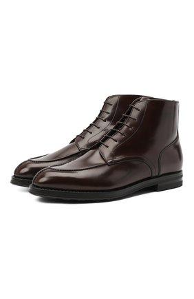 Мужские кожаные ботинки W.GIBBS темно-коричневого цвета, арт. 0639006/0220 | Фото 1