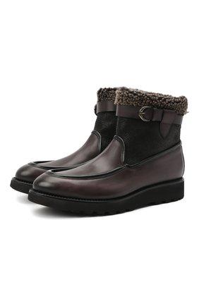 Мужские кожаные сапоги W.GIBBS черного цвета, арт. 0877009/0119 | Фото 1