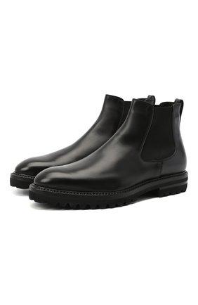 Мужские кожаные челси W.GIBBS черного цвета, арт. 7260004/2311 | Фото 1