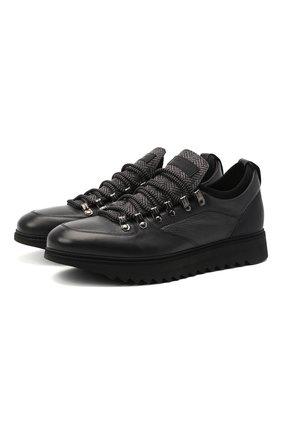 Мужские кожаные кроссовки BARRETT серого цвета, арт. MEGEVE-10970.5/C0RAL   Фото 1