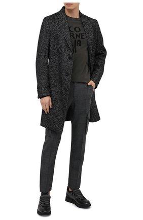 Мужские кожаные кроссовки BARRETT серого цвета, арт. MEGEVE-10970.5/C0RAL   Фото 2