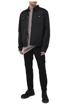 Мужская хлопковая футболка DRKSHDW серого цвета, арт. DU20F1274 FR   Фото 2