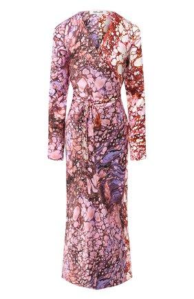 Женское шелковое платье DIANE VON FURSTENBERG разноцветного цвета, арт. 15439DVF | Фото 1