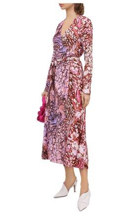 Женское шелковое платье DIANE VON FURSTENBERG разноцветного цвета, арт. 15439DVF | Фото 2