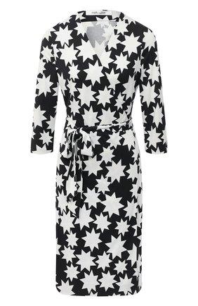 Женское шелковое платье DIANE VON FURSTENBERG черно-белого цвета, арт. 14095DVF | Фото 1