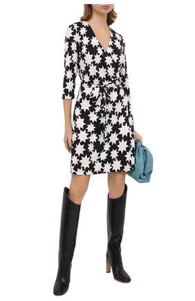 Женское шелковое платье DIANE VON FURSTENBERG черно-белого цвета, арт. 14095DVF | Фото 2