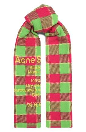 Мужской шерстяной шарф ACNE STUDIOS розового цвета, арт. CA0103/W | Фото 1