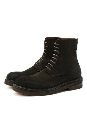 Мужские замшевые ботинки MARSELL зеленого цвета, арт. MM2961/PELLE R0VESCI0 | Фото 1