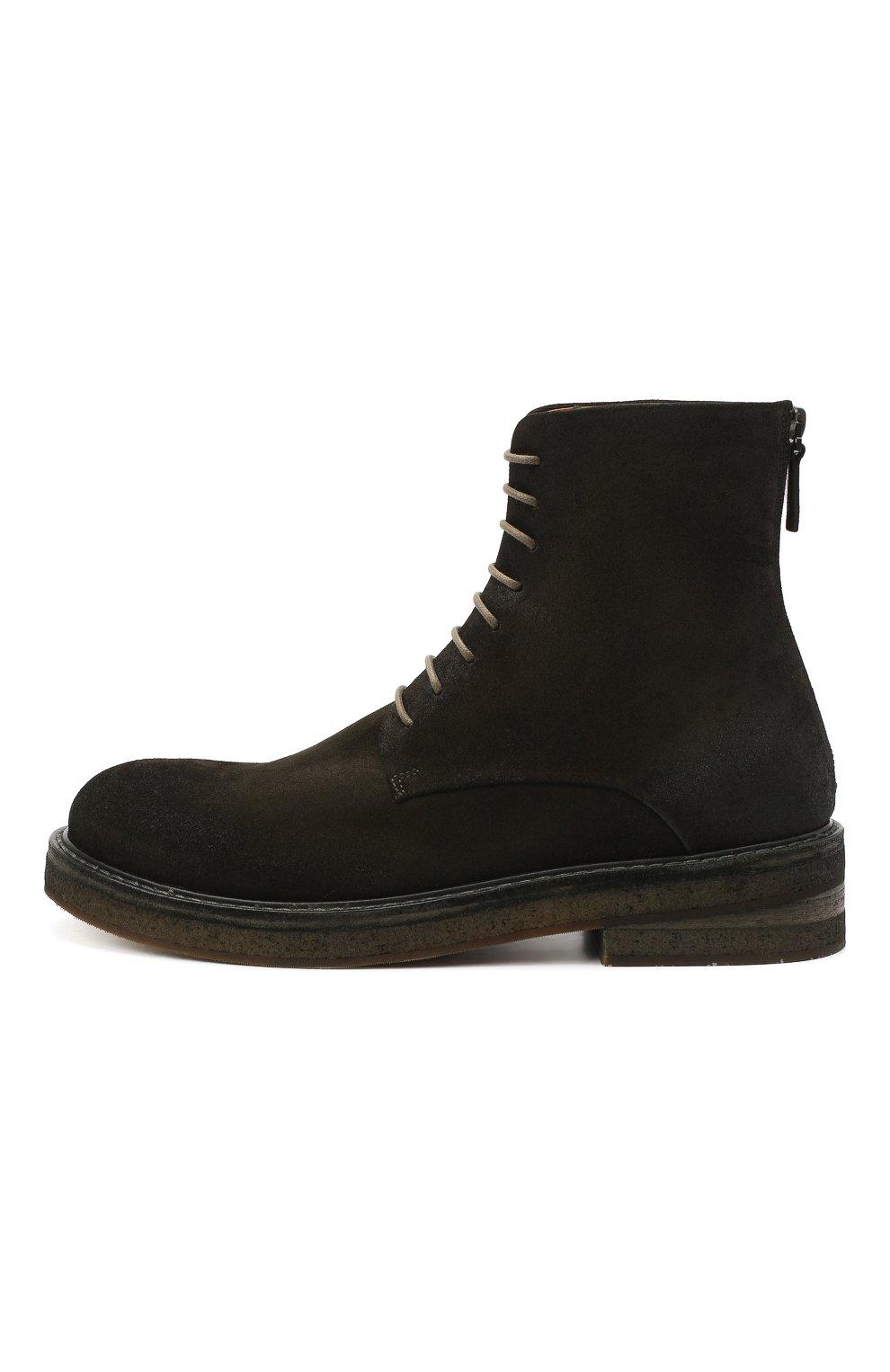 Мужские замшевые ботинки MARSELL зеленого цвета, арт. MM2961/PELLE R0VESCI0 | Фото 3