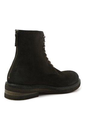 Мужские замшевые ботинки MARSELL зеленого цвета, арт. MM2961/PELLE R0VESCI0 | Фото 4