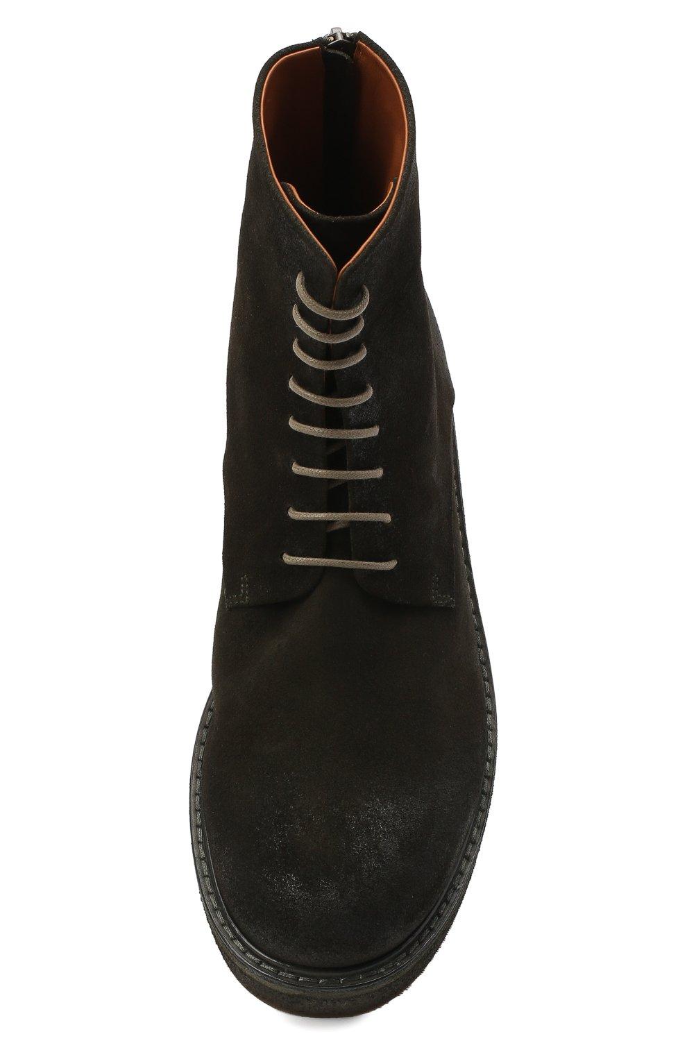 Мужские замшевые ботинки MARSELL зеленого цвета, арт. MM2961/PELLE R0VESCI0 | Фото 5