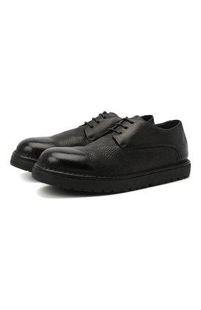 Мужские кожаные дерби MARSELL черного цвета, арт. MMG353/PELLE V0L0NATA | Фото 1