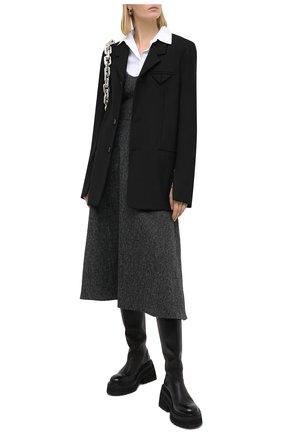 Женское шерстяное платье VALENTINO серого цвета, арт. UB0VAU0060S | Фото 2