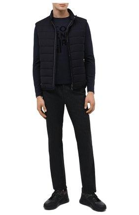 Мужские кожаные кроссовки DOUCAL'S черного цвета, арт. DU2710JUSTPM451NN05   Фото 2