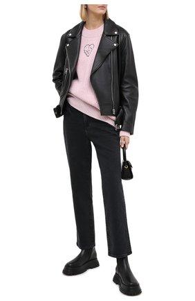 Женские джинсы PAIGE черного цвета, арт. 4223B80-3897 | Фото 2
