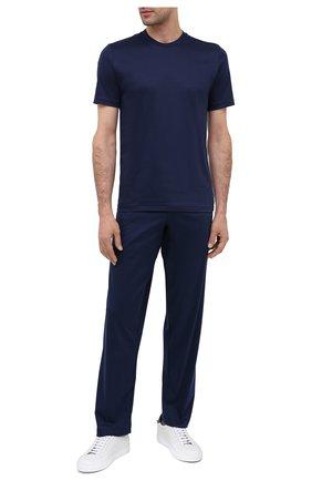 Мужская хлопковая футболка ZIMMERLI темно-синего цвета, арт. 286-1447 | Фото 2