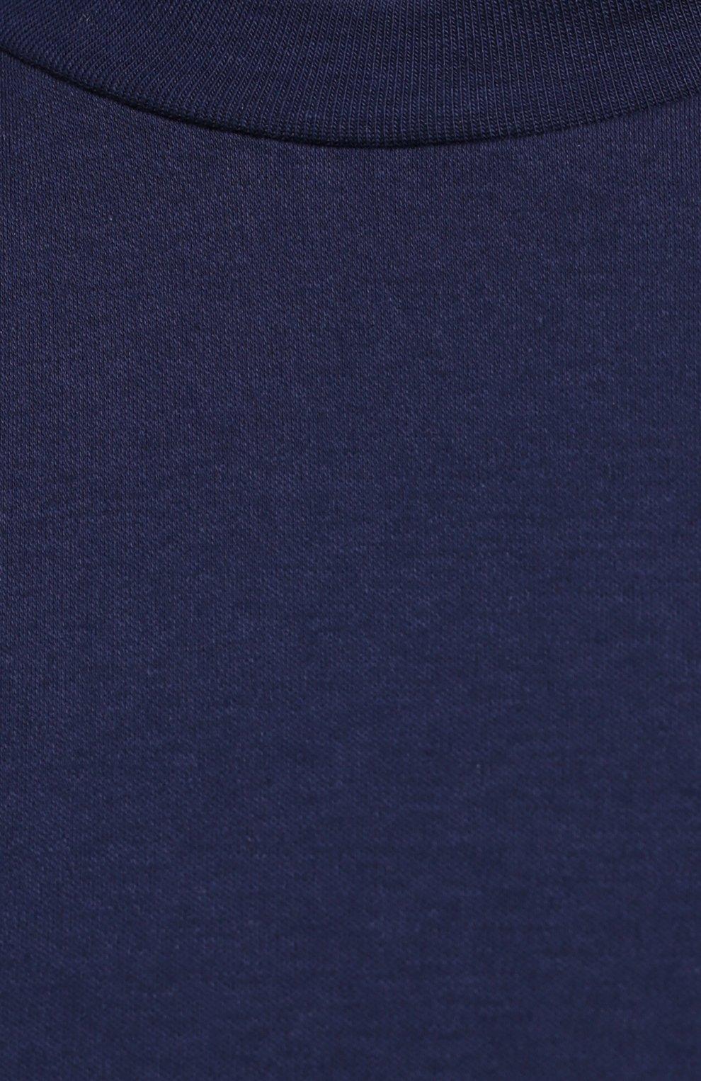 Мужская хлопковая футболка ZIMMERLI темно-синего цвета, арт. 286-1447   Фото 5 (Кросс-КТ: домашняя одежда; Рукава: Короткие; Длина (для топов): Стандартные; Материал внешний: Хлопок; Мужское Кросс-КТ: Футболка-белье)