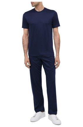 Мужские хлопковые домашние брюки ZIMMERLI темно-синего цвета, арт. 286-21330 | Фото 2