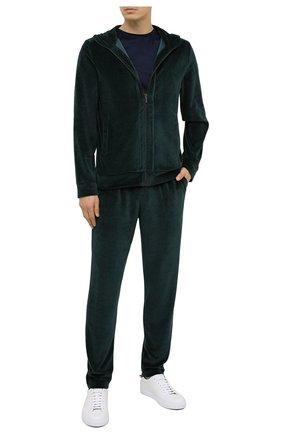 Мужские домашние брюки ZIMMERLI темно-зеленого цвета, арт. 5112-21331 | Фото 2