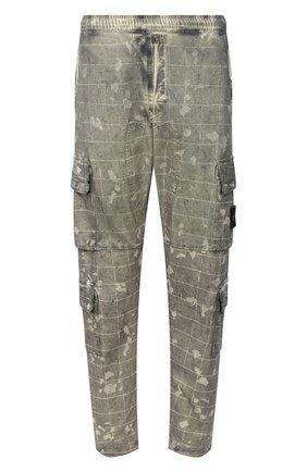 Мужской хлопковые брюки-карго STONE ISLAND зеленого цвета, арт. 7315317E2 | Фото 1