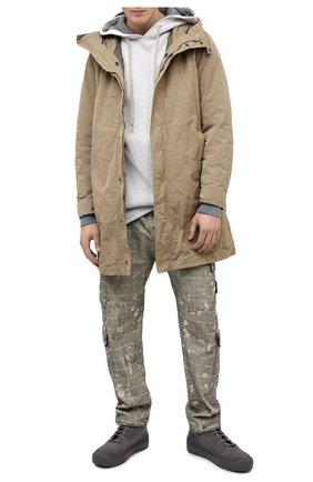 Мужской хлопковые брюки-карго STONE ISLAND зеленого цвета, арт. 7315317E2 | Фото 2