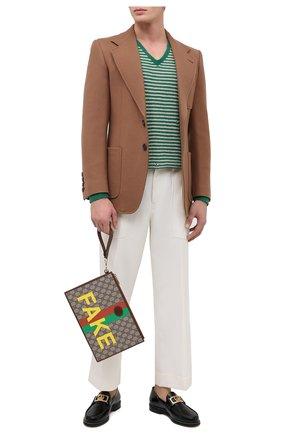 Мужская клатч «fake/not» GUCCI коричневого цвета, арт. 636171/2GCAG   Фото 2