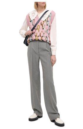 Женский шерстяной жилет GUCCI розового цвета, арт. 622149/XKBCI   Фото 2