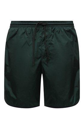 Мужские плавки-шорты GUCCI темно-зеленого цвета, арт. 577800/XHABJ | Фото 1 (Материал внешний: Синтетический материал; Мужское Кросс-КТ: плавки-шорты; Принт: Без принта)