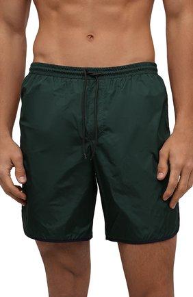Мужские плавки-шорты GUCCI темно-зеленого цвета, арт. 577800/XHABJ | Фото 2 (Материал внешний: Синтетический материал; Мужское Кросс-КТ: плавки-шорты; Принт: Без принта)