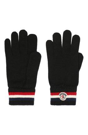 Мужские шерстяные перчатки MONCLER черного цвета, арт. F2-091-3A701-00-A9575 | Фото 2