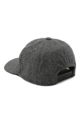 Мужской шерстяная бейсболка MONCLER серого цвета, арт. F2-091-3B720-00-54233 | Фото 2