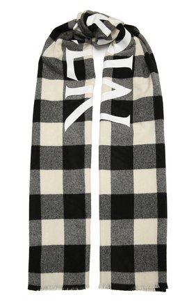 Мужской шерстяной шарф MONCLER черно-белого цвета, арт. F2-091-3C707-00-A0154   Фото 1