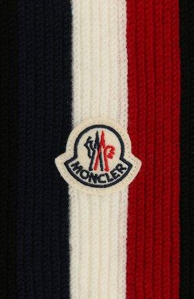 Мужской шерстяной шарф MONCLER черного цвета, арт. F2-091-3C711-00-A9575 | Фото 2