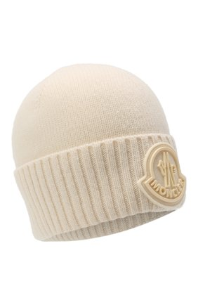Мужская шерстяная шапка MONCLER белого цвета, арт. F2-091-9Z726-00-A9524 | Фото 1