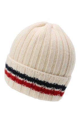 Мужская шерстяная шапка MONCLER белого цвета, арт. F2-091-9Z742-00-A9536 | Фото 2