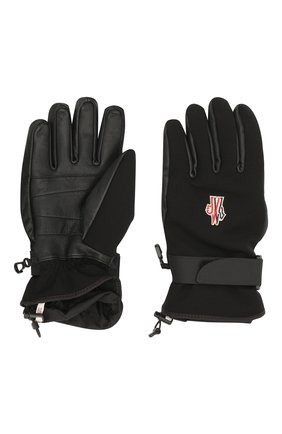 Мужские комбинированные перчатки MONCLER GRENOBLE черного цвета, арт. F2-097-3A600-00-53063 | Фото 2