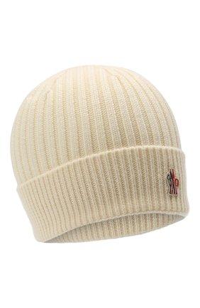 Мужская шерстяная шапка MONCLER GRENOBLE белого цвета, арт. F2-097-3B700-00-04761 | Фото 1
