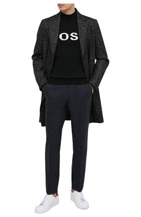 Мужской шерстяной джемпер BOSS черного цвета, арт. 50436627 | Фото 2