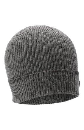 Мужская шерстяная шапка BOGNER серого цвета, арт. 98662445 | Фото 1 (Материал: Шерсть; Кросс-КТ: Трикотаж)