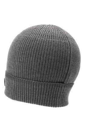 Мужская шерстяная шапка BOGNER серого цвета, арт. 98662445 | Фото 2 (Материал: Шерсть; Кросс-КТ: Трикотаж)