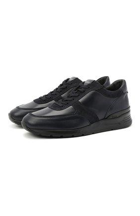 Мужские кожаные кроссовки TOD'S темно-синего цвета, арт. XXM69A0Z28201T | Фото 1